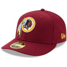 sale retailer e179d 21eaa Men s Washington Redskins New Era Burgundy Omaha Low Profile 59FIFTY  Structured Hat, Your Price