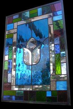 Stained Glass Window  Turquoise Treasure by stainedglassfusion, $169.00