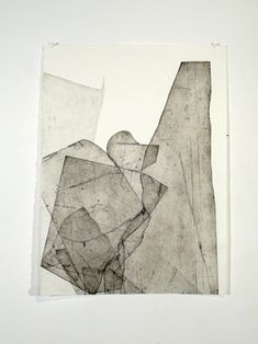 """Untitled from the """"Batholith Etchings"""" series by American artist Eben Goff Aluminum plate monoprint on Rives BFK, 22 x 30 in. via erin louise Art And Illustration, Contemporary Abstract Art, Modern Art, Painting Inspiration, Art Inspo, Gravure, New Art, Printmaking, Art Projects"""