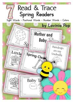 7 Spring Sight Words Read & Trace Readers.