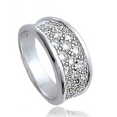 Ladies zirconium Eclats de Zirconium rings