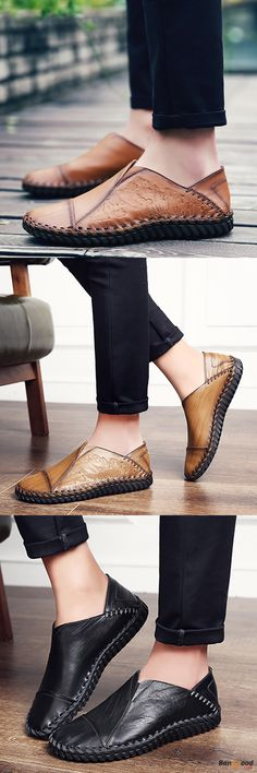 US$46.17 + Free shipping. Men Leather Shoes, Breathable Leather Shoes, Casual Shoes, Business Shoes, Hand Stitching Leather Shoes, Oxford Shoes. Upper Material: Genuine Leather. Color: Black, Brown, Yellow. Meet the 2017 Hottest Leather Shoes.
