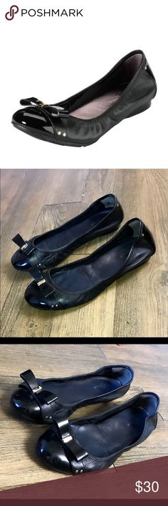 Cole Haan Nike Air black leather ballet flats 8 Authentic Cole Haan Nike Air black leather ballet flats 8 good condition light wear light scuffs insoles are a bit faded Cole Haan Shoes Flats & Loafers