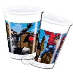 DC Comics Batman v Superman Boys Birthday Party Plastic Drink Cups - 8 pk Batman Vs Superman, Spiderman, Comic Party, Batman Collectibles, Plastic Cups, Superhero Party, Party Tableware, Boy Birthday, Unique