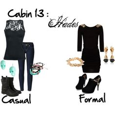 """""""Cabin 13: Hades"""" by idmiliris on Polyvore"""