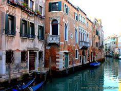 Buildings on the canals of Venice