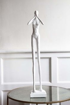 A contemporary art piece, the Tall Silent Figure Ornament is finished in a neutral white colour & will fit in with any display in your home. Shop ornaments here Rockett St George, Long Legs, Interior Styling, Contemporary Art, Art Pieces, Art Deco, Statue, Ornaments, Myrtle