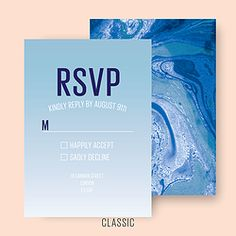 MARBLED WEDDING RSVP CL.AM CORRESPONDENCE http://www.cl-am.com