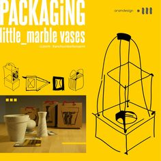 Packaging / little_marble vases  packaging for marble vases / packaging per vasi in marmo