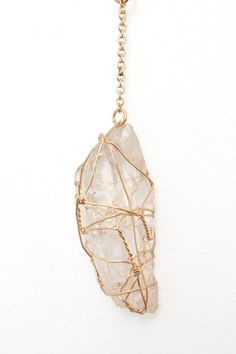 To enhance memory and balance the mental and emotional. Wire Wrapped Calcite Stone Necklace.