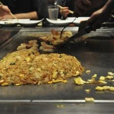 Japanese steak houses cook fried rice right on the grill.