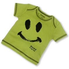 Sckoon Organic Cotton Smiley Top Lime