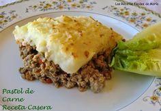 Las Recetas Fáciles de María: Pastel de Carne receta Casera-Cotagge Pie (Vídeo-receta)