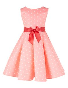 Heart Jacquard Dress | Pink | Monsoon