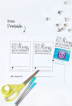 Free Printable iTunes Gift Card Holder