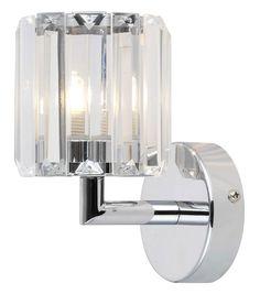 Colours Pereti Chrome Effect 1 Lamp Halogen Single Wall Light   Departments   DIY at B&Q