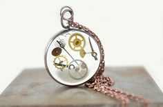 Steampunk pendant handmade from an upcycled copper by UxorBoutique, $12.00