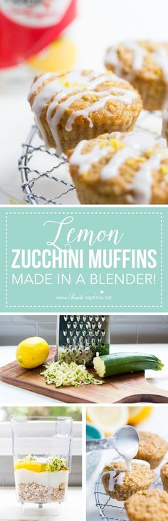Lemon Zucchini Muffins made in the blender... the perfect go to for kids and adults! These are super easy to make, gluten free and they'll be done in…