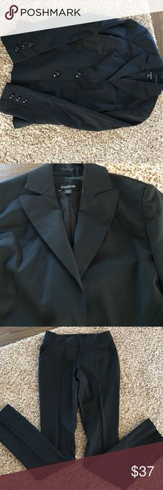 Pant suit 2 piece and suit with jacket all black skinny pants sold together! Pants are a 00 jacket is a 0 bebe Other