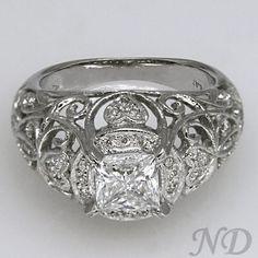 Engagement Rings :: Filigree  Platinum Engagement Ring