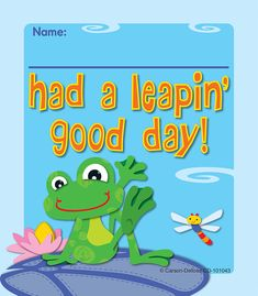 "The playful, light-hearted design and cheerful message make these FUNky Frogs Ready Reward® coupons perfect for instantly sending a personal and positive message to your students!  Great to have on hand to celebrate everyday accomplishments and achievements! Easy to personalize and customize to any occasion and student. Look for coordinating products in this design to create a lively and fun classroom theme!  Set includes 24 coupons measuring 3"" x 3½""."