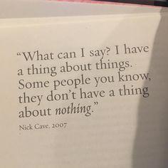 Nick Cave Stories