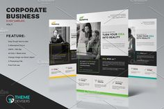 Corporate Business Flyer Template by ThemeDevisers on @creativemarket