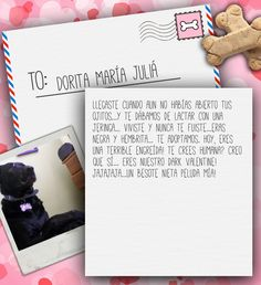 Valentine's Day Note for Dorita María Juliá from Lilian de Juliá on 3MillionDogs.com
