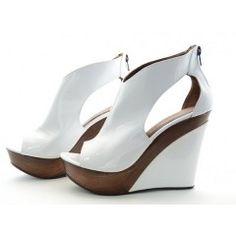sexy chaussure compens e blanche amor existe en noir fuschia les compens es pinterest. Black Bedroom Furniture Sets. Home Design Ideas
