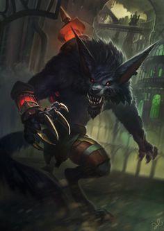 League of Legends: Warwick by jylgeartooth.deviantart.com on @DeviantArt