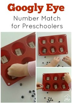 Does your preschooler like googly eyes? My daughter LOVES them, so I put some to good use in an activity to work on her number recognition, counting and number ordering skills.