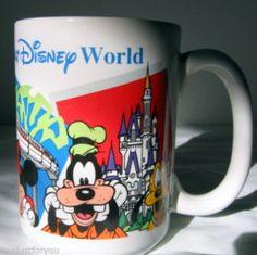 Coffee Cup Mug Disney World Mickey Goofy Donald Duck Grandpa