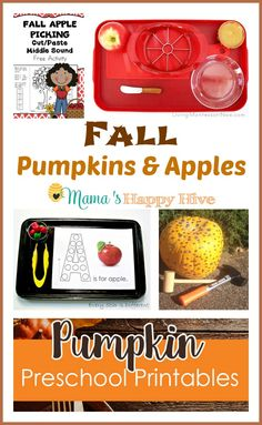 fall pumpkins and apples activities