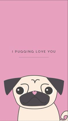Wallpaper, background, and pug image. Pug Wallpaper, Wallpaper Backgrounds, Iphone Wallpaper, Winter Illustration, Pug Love, Dog Quotes, Dog Design, Cute Wallpapers, Cute Dogs