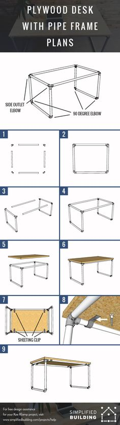 Plywood Desk Plans