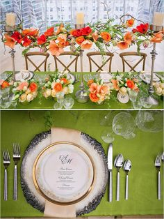 modern and romantic wedding centerpiece for the modern bride