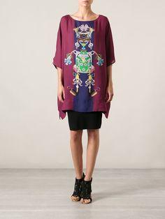 Women - Mary Katrantzou 'Tiki Man' Print Tunic Top - Feathers Fashion Online Store