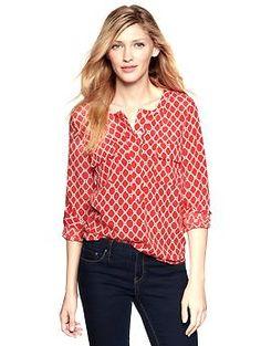 Pocket popover shirt | Gap