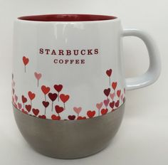 Starbucks Heart Mug 2007 Love Balloons Stainless Steel Bottom Coffee Urban #StarbucksCoffeeCompany