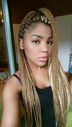 blonde senegalese twists hair