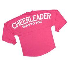 Cheerleader+BOW+TO+TOE+Spirit+Football+Jersey+Hot+Pink by Cheerleading Company