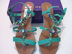 Madden Girl New Eastern Turquoise Womens Sandals Size 8.5 Med Shoes NIB MSRP $59 #MaddenGirl #Eastern
