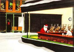 """Night Hawks"""" Santa And Reindeers"""