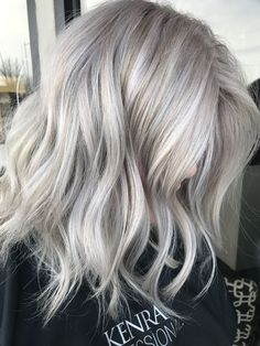 15 Stunning Silver Blonde Hair Color Ideas For 2019 - Platinum Blonde Hair Ice Blonde Hair, Silver Blonde Hair, Balayage Hair Blonde, Greyish Blonde Hair, Haircolor, Silver Platinum Hair, Blonde Brunette, Platinum Wigs, Brunette Haircut