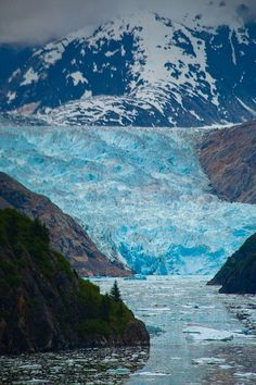 Lucky enough to see this last year! Sawyer Glacier reflecting in the ice peppered river, Inside Passage, Tracy Arm Fjord, Alaska Copyright Jason Schlosberg Glacier Bay Alaska, Juneau Alaska, Alaska Travel, Cool Places To Visit, Places To Travel, Places To Go, North To Alaska, Alaska Usa, Fjord