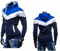 Hot Sale 2015 New Arrival Mens Leisure Suit Man Hoodies Casual Slim  Patchwork Hoodie Jacket Sweatshirt 6 Colors Men Sportswear 865166428200