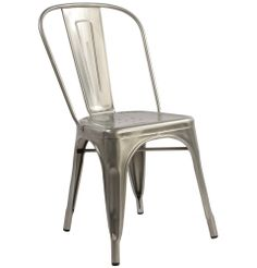 Replica Xavier Pauchard Tolix Chair (Galvanised, Goffered, Antique) - Matt Blatt