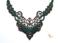 Handwoven Hippie-chic elvin necklace pixie fairy gypsy boho bohemian micromacrame elven on Etsy, $46.82