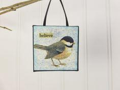 Whimsical Chickadee - a Little Bird Ornament