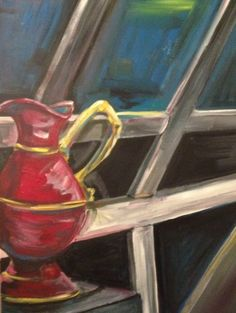"""Water Urn and Window"" Acrylic on canvas 2013 Collection of Peter Gielfeldt"